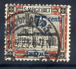 SAAR 1921 Surcharge 75c On 2 Mk. With Bright Blue Overprint, Used  Michel 79 A II  (€150) - 1920-35 League Of Nations