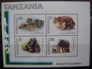 TANZANIA - IVERT H.B.Nº 27 - NUEVOS (**) SIN FIJASELLOS - FAUNA DE AFRICA - ( G66 ) - Tansania (1964-...)