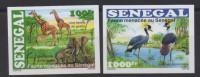 Sénégal 2015 IMPERF Non Dentelé Faune Menacée Threatened Fauna éléphants Girafes Birds Oiseaux Elephants Giraffe
