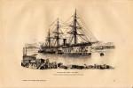 1889 - Gravure Sur Bois D´après Caussin - Toulon (Var) - Le Tonkin - Transport De L´état - FRANCO DE PORT - Stiche & Gravuren