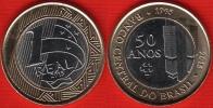 "Brazil 1 Real 2015 ""Central Bank"" BiMetallic UNC - Brésil"