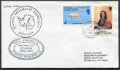 1989 B.A.T. Antarctic RRS John Briscoe FARADAY Penguin Ship Cover - British Antarctic Territory  (BAT)