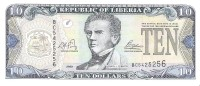Liberia - Pick 27a - 10 Dollars 2003 - Unc - Liberia