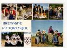 CP 10*15/XC946/BRETAGNE PITTORESQUE MULTIVUES COIFFES COSTUMES - Bretagne
