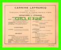 DÉPOSITAIRES À L'ÉTRANGER DE CARNINE LEFRANCQ - FUMOUZE, PARIS - - Chemist's (drugstore) & Perfumery
