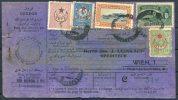 1917 Turkey Parcelcard Rosenthal & Sons - Wien Austria - 1858-1921 Ottoman Empire