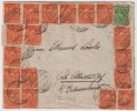 DR, 1923, Fern-Bf. Massen-Frankatur,   #4026 - Briefe U. Dokumente