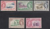 Cayman Islands 1953-62 Mint Mounted, Sc# ,SG 148-152 - Cayman Islands