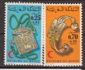 MAROC    1973     Croissant Rouge Marocan - Bijoux      N°  682 / 683      COTE    5 € 50           ( V 567 ) - Morocco (1956-...)