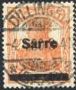 SAAR 1920 Overprint Type III On 7½ Pfg., Used  Michel 5a III (€30) - 1920-35 League Of Nations