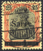 SAAR 1920 Overprint Type III On 25 Pfg.  Red-orange/black Shade, Used  Michel 9aIII (€420) - 1920-35 League Of Nations