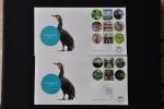 NETHERLANDS FDC 2015 NVPH E 712 AB NAARDERMEER BIRDS BLANK BLANCO - FDC