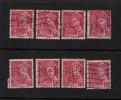 416 De 1938-41 - Lot De 8 Timbres  Perforés.  - Oblitérés.  Type  Mercure - Voir Les 2 Scannes - Perforés