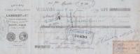 Lettre Change 27/6/1879 Lambert & Cie Fonte Clouterie Usines De VUILLAFANS Doubs Cachet Convers Pointerie Claivaux Jura - Lettres De Change