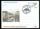 GUERRA 1915-18-LONGARONE - CROCE ROSSA-TRENI-STAZIONI-EVENTI-INTERO POSTALE-SOPRASTAMPA PRIVATA-MARCOFILIA - Guerre 1939-45