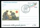 GUERRA 1915-18-PRATO MARTINI-CROCE ROSSA-MOSTRA STORICO -FRANCESCO BARACCA-INTERO POSTALE-SOPRASTAMPA PRIVATA-MARCOFILIA - Guerre 1939-45
