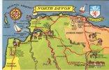 Unknown Postcard, Pictorial Map Of North Devon PT1499 - Angleterre