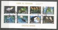Umm Al Qiwain 1973 Exotic Birds, Mini Imperf.sheetlet, Used T.020 - Umm Al-Qiwain