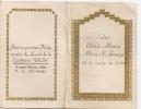 "INVITACION LUNCH DE BODA ""CONFITERIA PERON"" BUENOS AIRES ARGENTINA WEDDING DINNER INVITATION ANNÉE 1949 RARISSIME GECKO - Saisons & Fêtes"