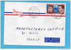 MARCOPHILIE-lettre -congo-pour Françe Cad- 1974- StampsN°A 186-Gagarine+Shepard-space - Congo - Brazzaville