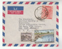 1970s  Air Mail PAKISTAN COVER Stamps  20p COASTAL EMBANKMENTS 1r 10p To USA - Pakistan