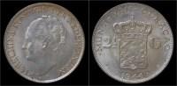 Curacao Wilhelmina I 2 1/2 Gulden (rijksdaalder) 1944 - Curacao