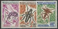TAAF, N° 040 à N° 042** Y Et T, Insectes, 40 / 42 - Terre Australi E Antartiche Francesi (TAAF)