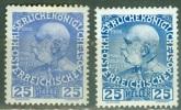 Autriche   Yvert  109 et 109a  ou Michel  147v et x    *  TB