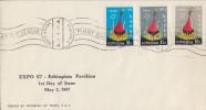 Enveloppe 1er Jour   ETHIOPIE    Exposition  Universelle   MONTREAL   1967 - 1967 – Montreal (Kanada)