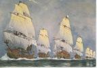 Corsaires & Vaisseaux :  Escadre De Vaisseaux En Ligne De File  XVIIÈ  - E. Blandin Peintre N°807 - Velieri