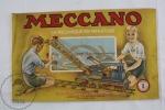 Old 1940´s French Meccano La Mécanique En Miniature. Manuel D´Instructions 1 - Meccano