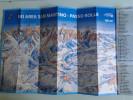 Alt798 Ski Area Map Mappa Piste Sci Impianti Risalita Slopes Skilift Cablecar Charlifts San Martino Passo Rolle Dolomiti - Sport Invernali