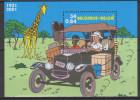 """Belgique Bloc 93 *** 70ème Ann De La Sortie Du 1er Album """"Tintin Au Congo"""" BD - Id Rép Dém Du Congo - 2001 - Blocks & Sheetlets 1962-...."""