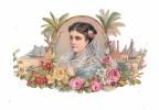 Grand DECOUPI 18 Cm : Portrait Jeune Fille - Ragazzi