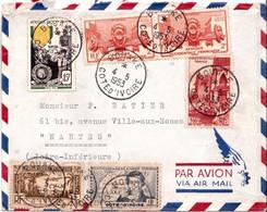 Bouaké Lettre Pour Nantes Par Avion 4.05.53 - Côte-d'Ivoire (1892-1944)