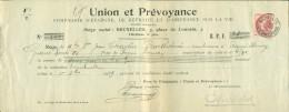 74 Sur 5 Reçus - Oblitérations Bruxelles Quittances- Dépôt (Lot 652) - 1905 Grosse Barbe