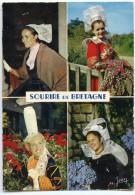 Sourire De Bretagne : Coiffes De Tréguier Quimperlé Pont-L´Abbé Bannalec - écrite Non Timbrée - 2 Scans - France