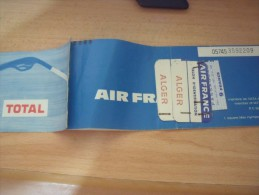 BILLET AIR FRANCE- PLUS TICKETS DE BAGAGES- ALGER-LYON-ALGER-1968 - Europe
