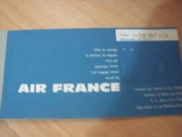 BILLET AIR FRANCE-- ALGER-ORAN-1963 - Europe