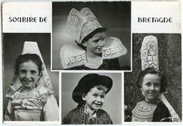Sourire De Bretagne : Enfants De Pont-Aven, Locronan, Plougastel-Daoulas Et Pont-L´Abbé - écrite Timbrée - 2 Scans - France