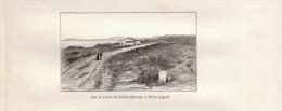 1889 - Gravure Sur Bois D´après Karl - Sainte-Maxime (Var) - Route Vers Saint-Aygulf - FRANCO DE PORT - Stiche & Gravuren