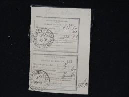FRANCE - 8 Cachets Manuels Sur Récipissé De Mandats Et Lettres Chargées - Période 1923/1950 - Lot P12009 - Marcophilie (Lettres)