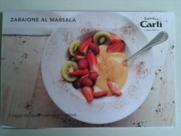 Fre312 Freecard Advertising Promo Food Cibo Ricetta Cucina Dolci Sweet Dessert Zabaione Marsala Alimentation Oil - Ricette Di Cucina