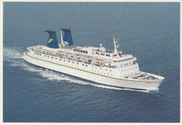 The Azur (now MS Royal Iris) Old Postcard Travelled 1994 Bb151102 - Barche