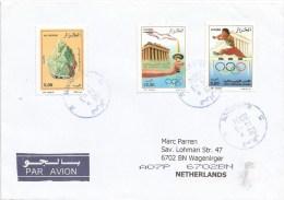 Algeria 2004 El Harrach Calcite Minerals Olympic Games Athens Flame Greek Temple Hurdles Athletism Cover - Mineralen
