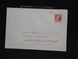 """FRANCE - Obl. Linéaire """" Ille Et Vilaine """" Sur Type Bersier En 1944 - Lot P12022 - Marcophilie (Lettres)"""