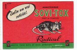 Buvard -SOVI-TOX Radicale -raticide - Vloeipapier