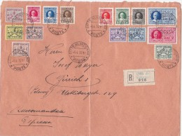 Vatican City 1932 Registered Mail Sent To Switzerland With Definitive Stamps, Rare - Vatican