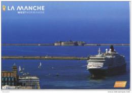 CPM Cherbourg - Paquebot Dans Le Port - Gare Maritime - 50 Manche - Normandie - Cherbourg