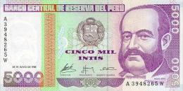 Peru 5000 Soles De Oro 1988 Pick 137 UNC - Perú